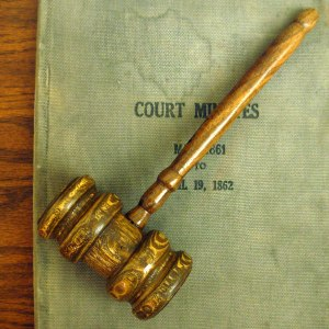 Court Gavel by Jonathunder (Wikimedia)