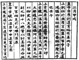Kaiyuan Chao Pao, Bulletin of the Court[